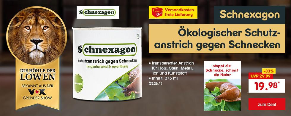 Die Höhle der Löwen - Schnexagon ökologischer Schutzanstrich gegen Schnecken für nur 19.98* und versandkostenfrei erhältlich