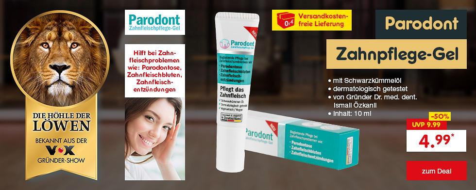 Die Höhle der Löwen - Parodont Zahnpflege-Gel für nur 4.99* und versandkostenfrei erhältlich