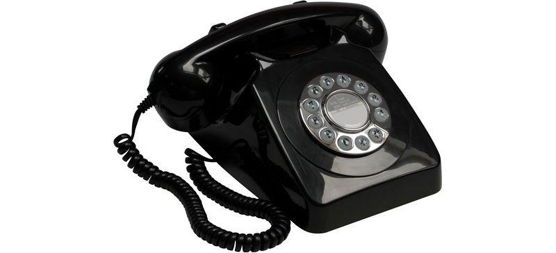 GPO Telefon mit Wählscheibe im klassischen 70er...