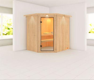 Karibu Siirin Sauna, mit Kranz, ohne Ofen
