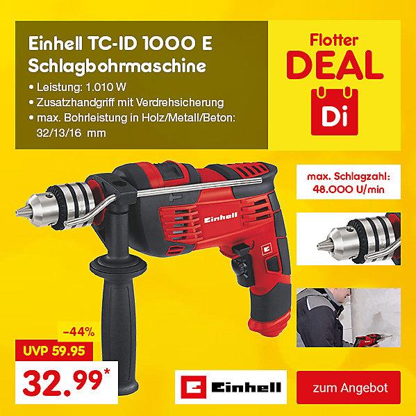 Flotter Deal - Einhell TC-ID 1000 E Schlagbohrmaschine nur heute für nur 32.99*
