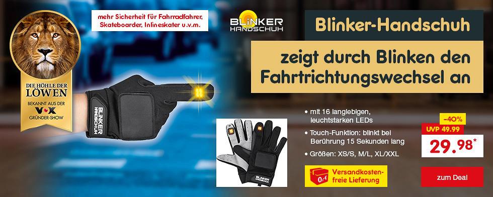 Die Höhle der Löwen - Blinker-Handschuh nur 29.98* inkl. versandkostenfreier Lieferung