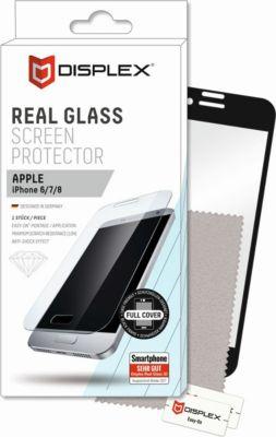 DISPLEX Vollflächiges Displayschutzglas- iPhone 6/7/8, Schwarz