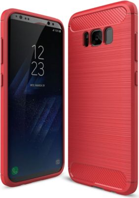 PEDEA Carbon Look Case für Samsung Galaxy S8, rot