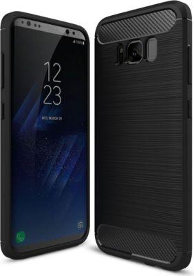 PEDEA Carbon Look Case für Samsung Galaxy S8 Plus, schwarz