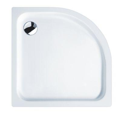 Sanicomfort Acryl-Viertelkreis-Super-Flach-Brausewanne 90 x 90 x 2,5 cm, weiß