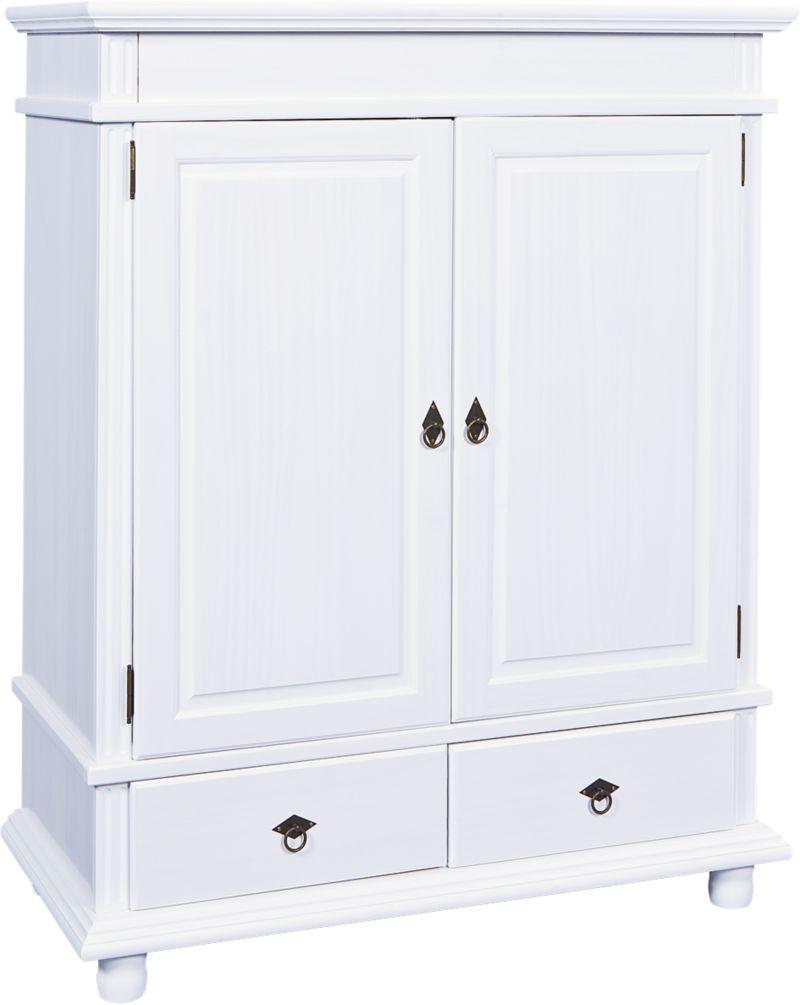 Link´s Wäscheschrank Danz 4 weiss 2 Türen/2 Schubl.