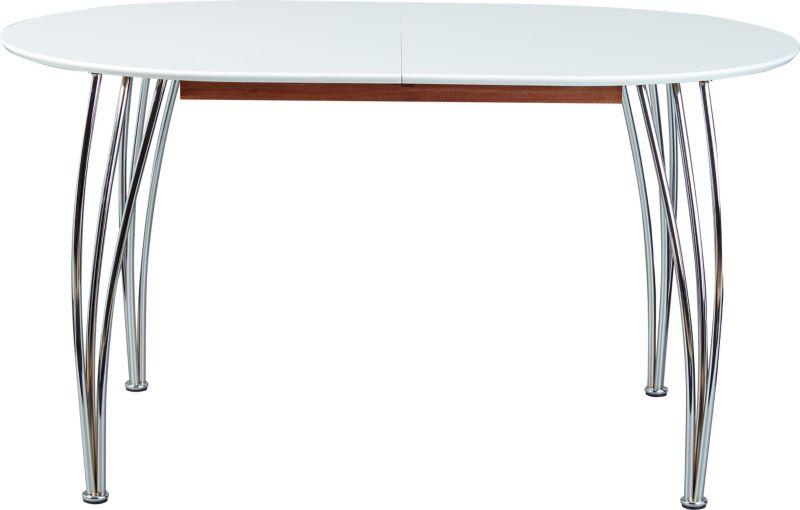 Link´s Esstisch Ovali140-180x90cm weiß/chrom,ausziehbar