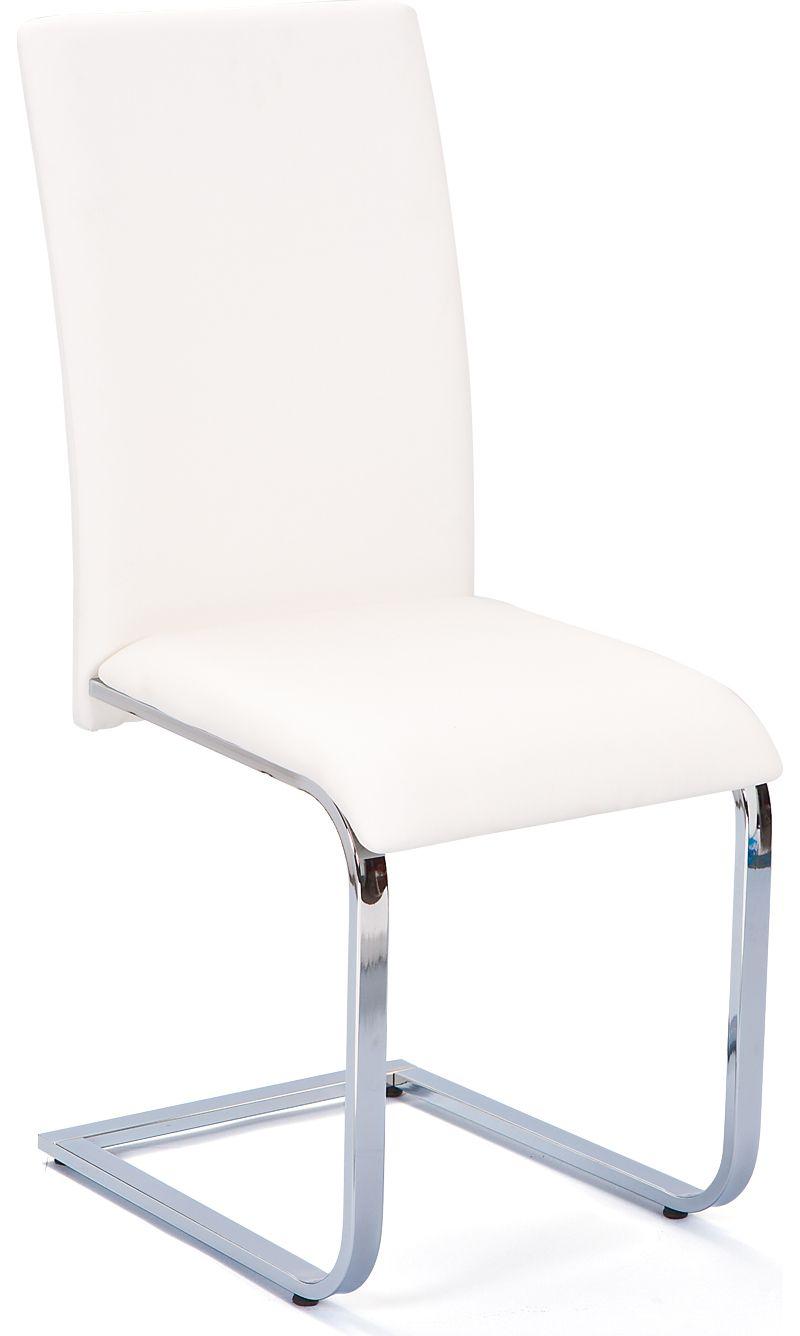 Link´s Esszimmer-Stuhl Montana white/chrome