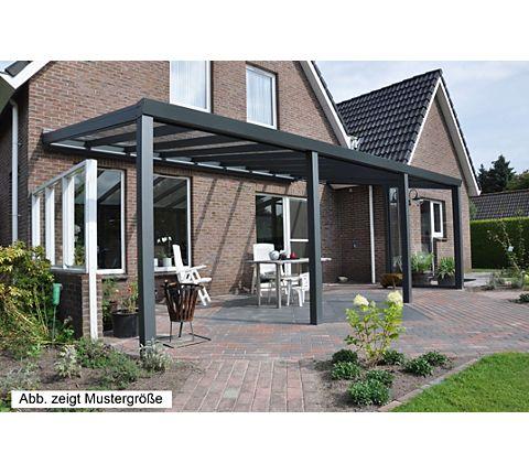 VP Trading Terrassenüberdachung 600 x 350 aus Aluminium, inkl ...