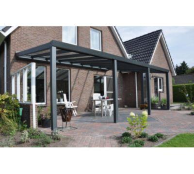 vp trading terrassenüberdachung 500 x 400 aus aluminium, inkl,