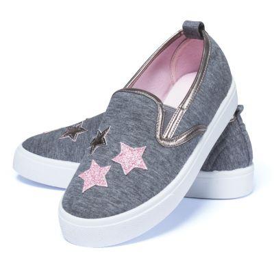 Kinder Slipper - Gr. 29 grau mit Sternen