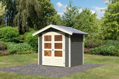 Karibu Harburg 2 modern, 19 mm inkl. Gartenpflegebox, terragrau