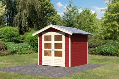 Karibu Harburg 3 modern, 19 mm inkl. Gartenpflegebox, kastanienrot