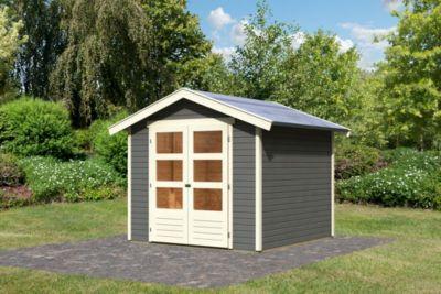 Karibu Harburg 5 modern, 19 mm inkl. Gartenpflegebox, terragrau