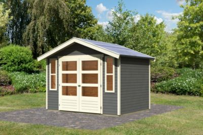Karibu Auburg 6 modern, 19 mm inkl. Gartenpflegebox, terragrau
