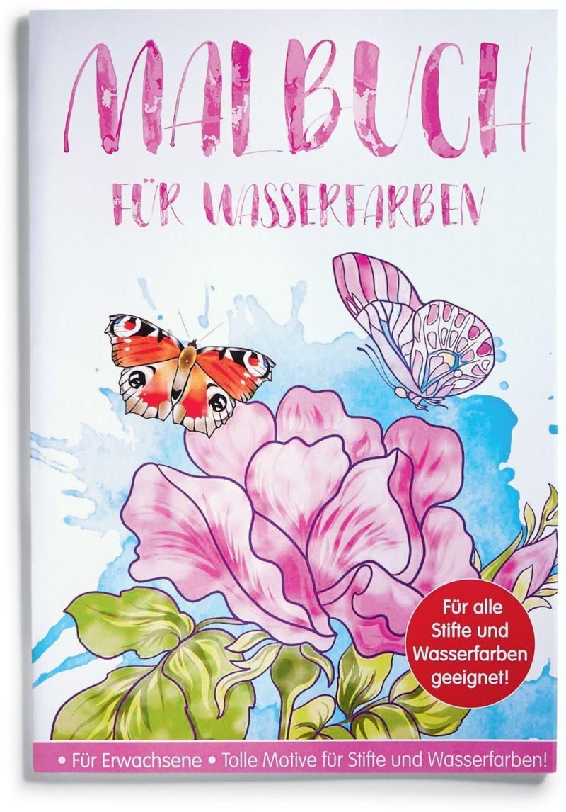 Malbuch für Wasserfarben - Fantastische Natur -...