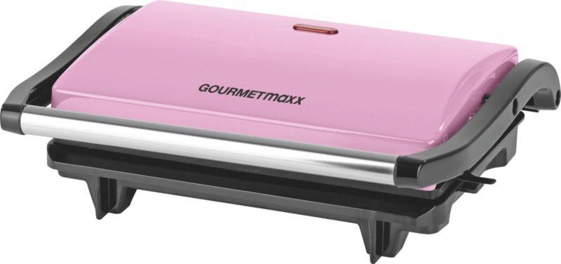 GOURMETmaxx Kontakt- & Tischgrill 700W rosa
