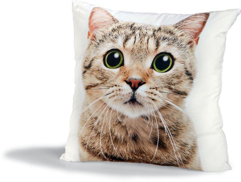 Dekor Dekokissen mit Tiermotiven - Katze
