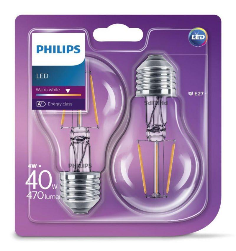 PHILIPS LED Leuchtmittel - Filament Birne 40W A...