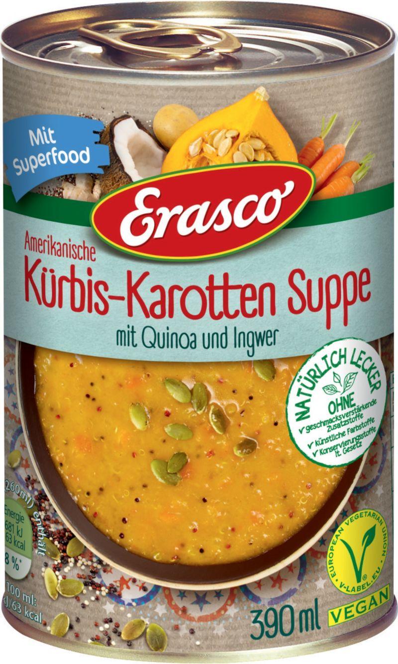 Amerikanische Kürbis-Karotten Suppe mit Quinoa ...