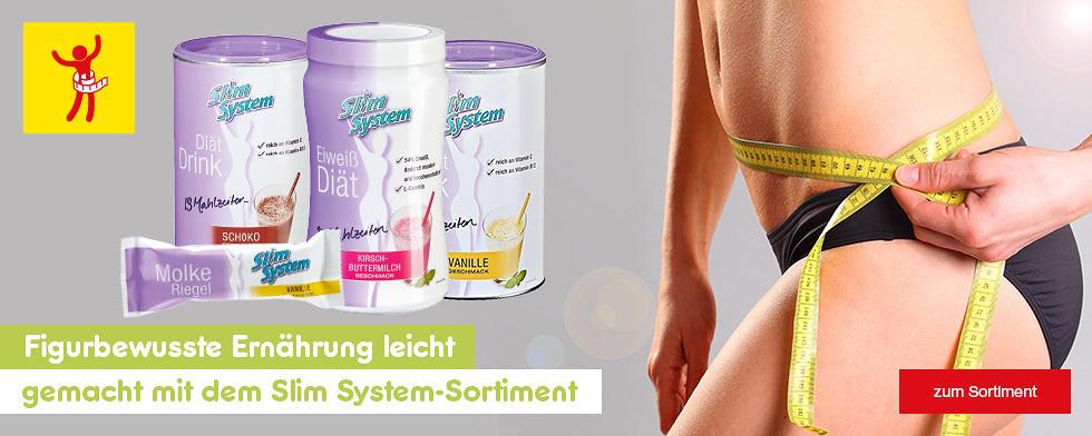 Figurbewusste Ernährung leicht gemacht mit dem Slim-System-Sortiment