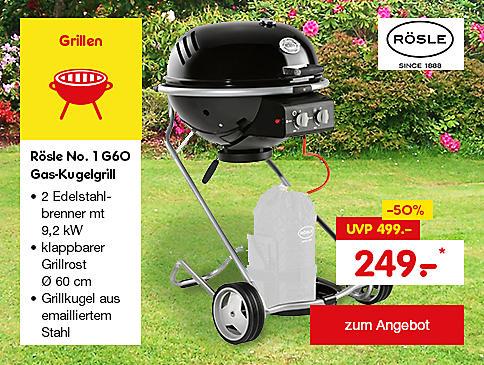 Rösle No. 1 G60 Gas-Kugelgrill nur 249.- €