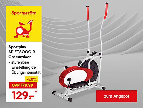 Sportplus SP-ET8000-R Crosstrainer nur 129.- €*