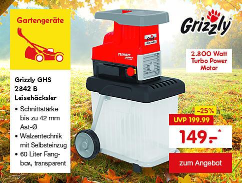 Grizzly GHS 2842 B Leisehäcksler, nur 149.- €*