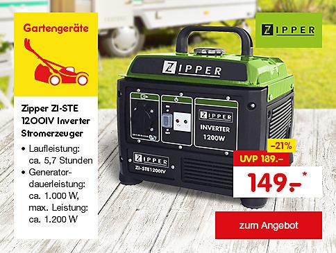 Zipper ZI-STE 1200IV Inverter Stromerzeuger, für nur 149.- €*