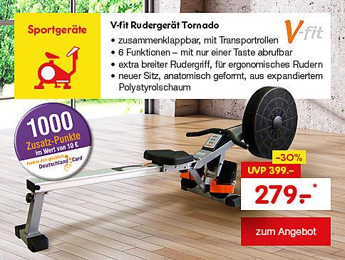 V-fit Rudergerät Tornado, für nur 279.- €*