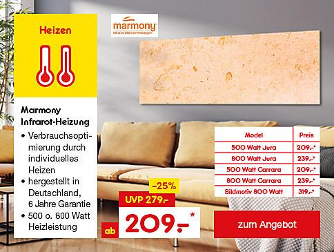 Marmony Infrarot-Heizkörper inkl. Thermostat, für ab 209.– €*