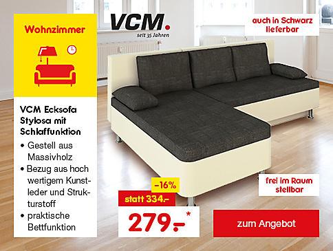 VCM Ecksofa Stylosa mit Schlaffunktion, für nur 279.- €*