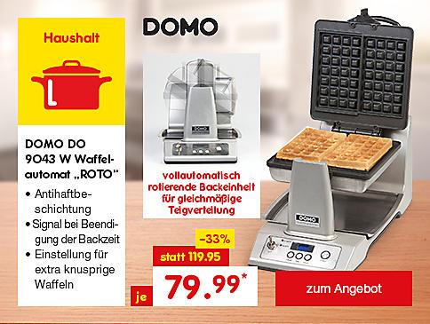 """DOMO DO 9043 W Waffelautomat """"ROTO"""", für 79.99 €*"""