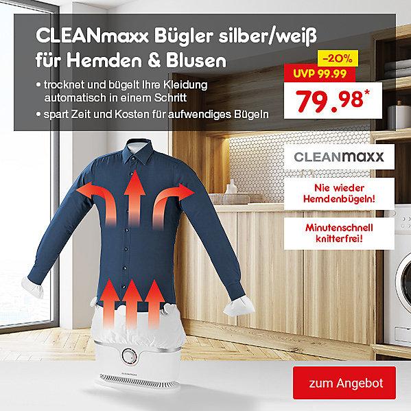 CLEANmaxx Bügler silber/weiß für Hemden & Blusen, für nur 79.98 €*