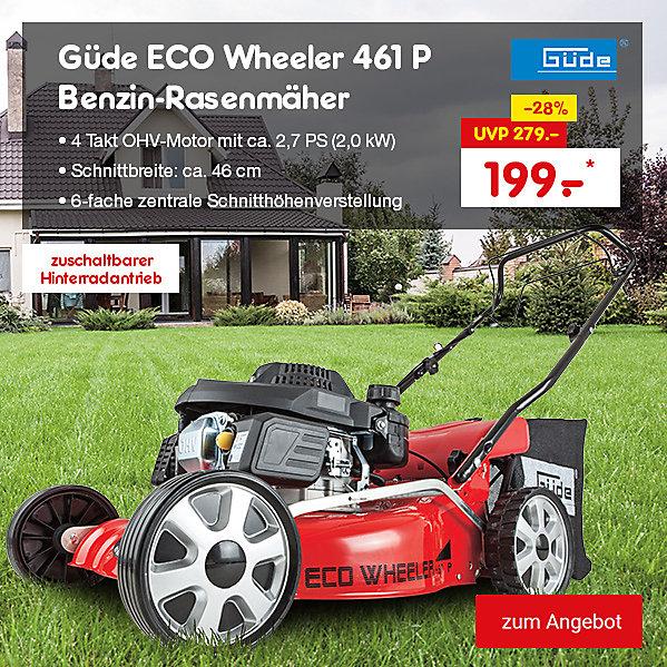 Güde ECO Wheeler 461 P Benzin-Rasenmäher, nur 199.- €*