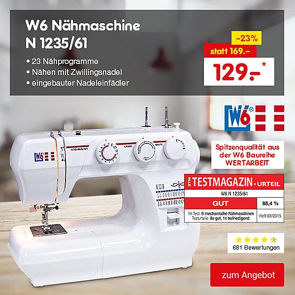 W6 Nähmaschine N 1235/61, für nur 129.- €*