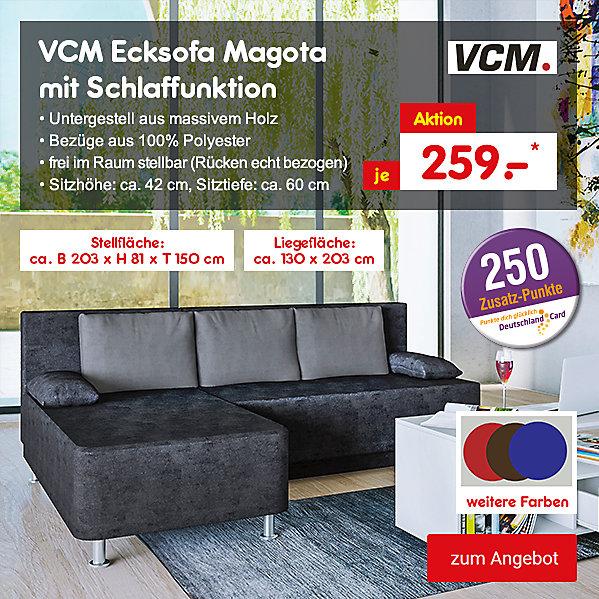 VCM Ecksofa Magota mit Schlaffunktion, für nur 259.- €*