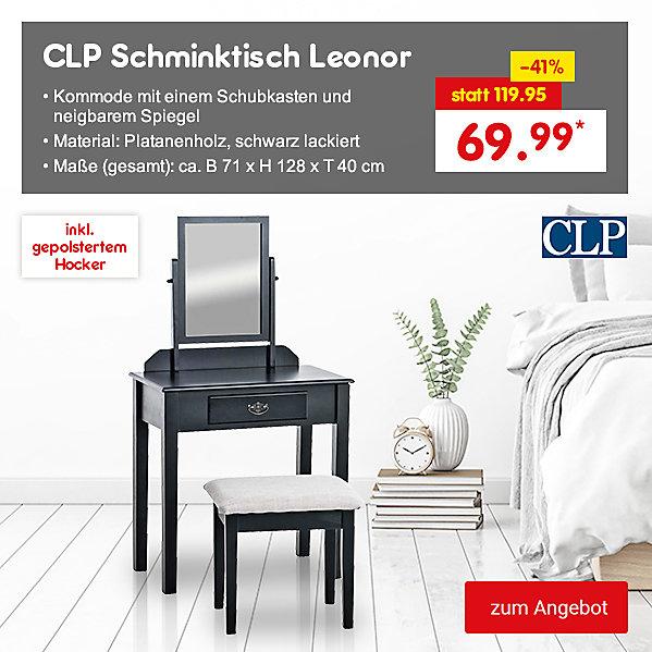 CLP Schminktisch Leonor inkl. gepolstertem Hocker, für nur 69.99 €*