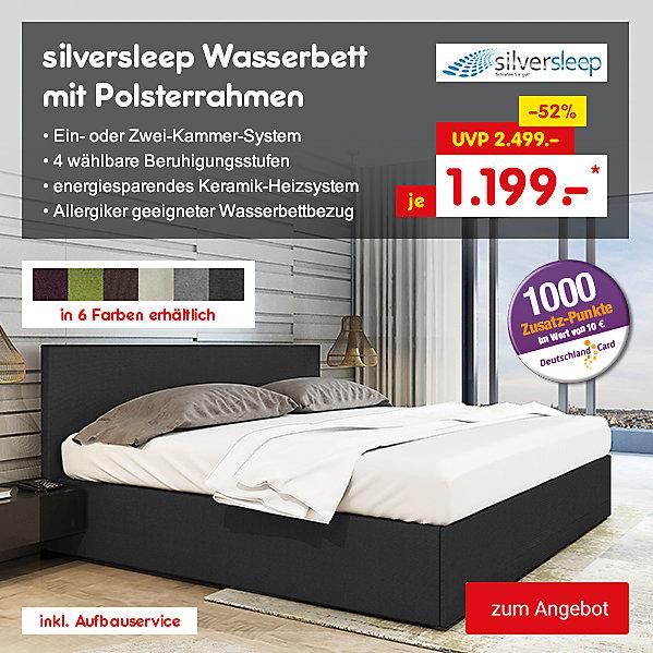 silversleep Wasserbett mit Polsterrahmen, für nur 1.199.- €*