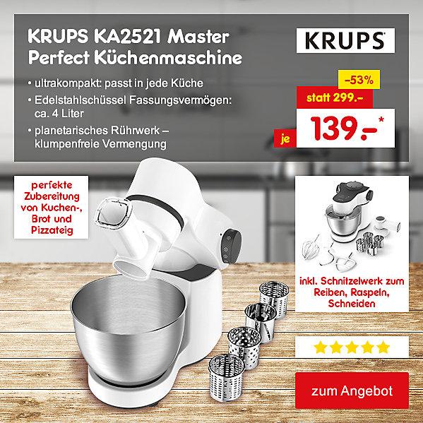 KRUPS KA2521 Master Perfect Küchenmaschine, für nur 139.- €*
