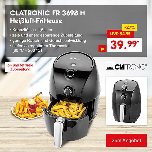 CLATRONIC FR 3698 H Heißluft-Fritteuse, für nur 39.99 €*