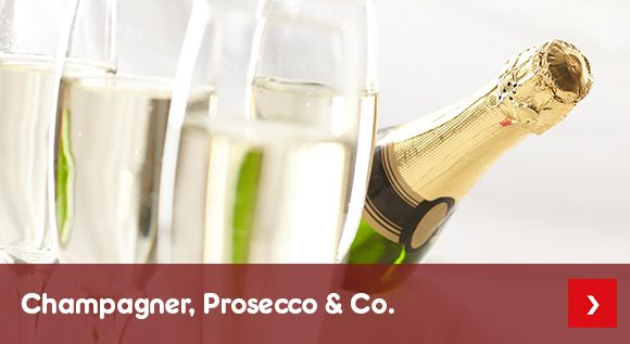 Unser Sortiment an Champagner, Prosecco & Co.