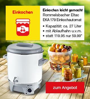 Rommelsbacher Eltac EKA 179 Einkochautomat/Glühweinspender mit Ablaufhahn für nur 59.99*