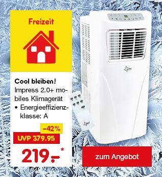 Cool bleiben mit dem mobilen Klimagerät Impress 2.0+ für nur 219.-*