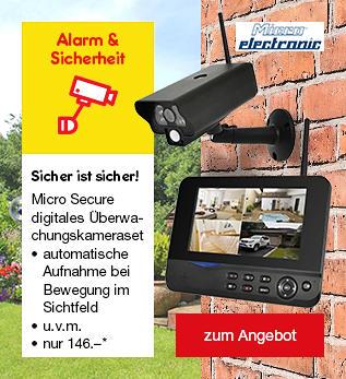 Micro Secure digitales Überwachungskameraset für nur 146.-*