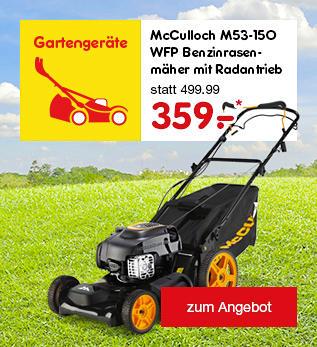 McCulloch Benzinrasenmäher mit Radantribe nur 359.- €*