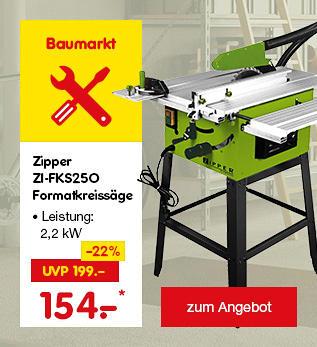 Zipper Formatkreissäge nur 154.- €*