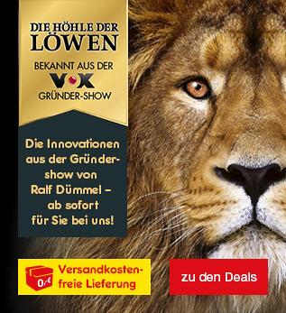 Die Höhle der Löwen - die Löwen brüllen wieder und bei uns erhalten Sie alle Artikel versandkostenfrei zu Ihnen nach Hause geliefert.