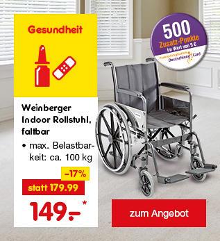 Weinberger Indoor Rollstuhl, faltbar, nur 149.- €*